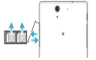 How To Insert SIM Card - Sony Xperia C3 Dual