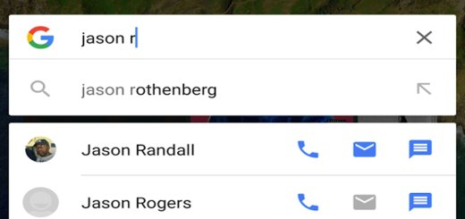 Google Search Show Contacts With Quick Actions