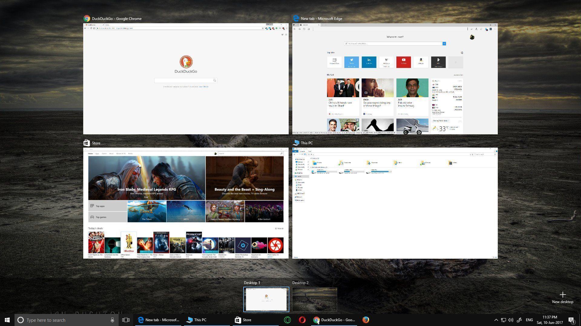 Windows 10 - Multiple Desktops