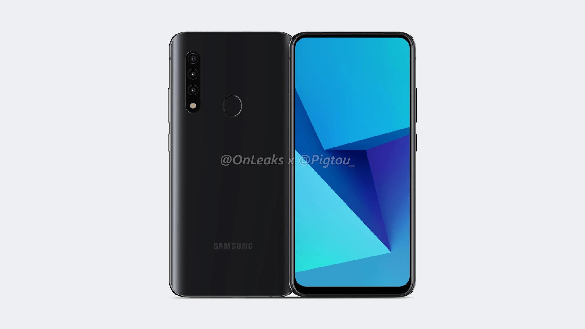 Samsung budget smartphone with Popup Selfie Camera