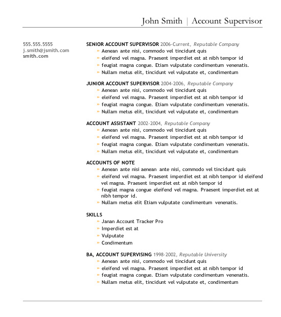 downloadable resume format template