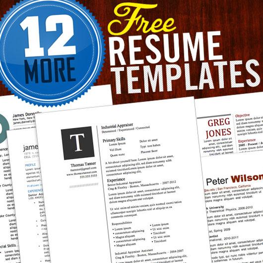 12 more free resume templates primer