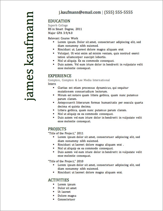 Free Resumes To Download. Free Downloadable Resume Templates