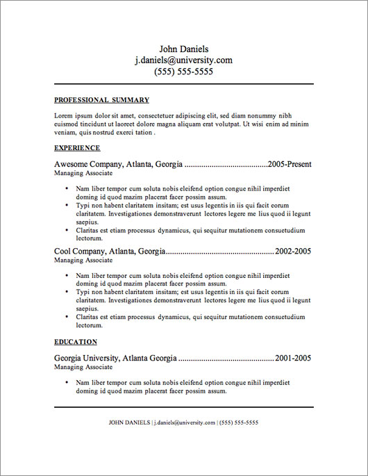 resume 3 free templates for resumes newsound co