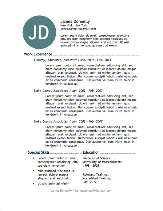 12 resume templates for microsoft word free primer - Word Free Resume Templates