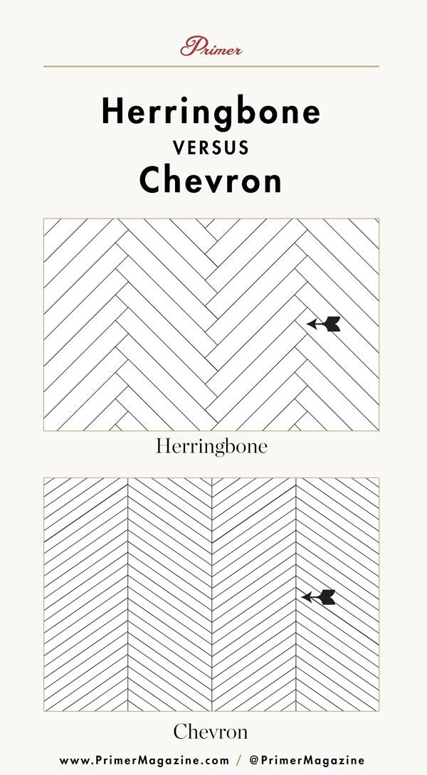 herringbone vs chevron pattern