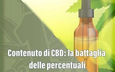 Contenuto di CBD: la battaglia delle percentuali