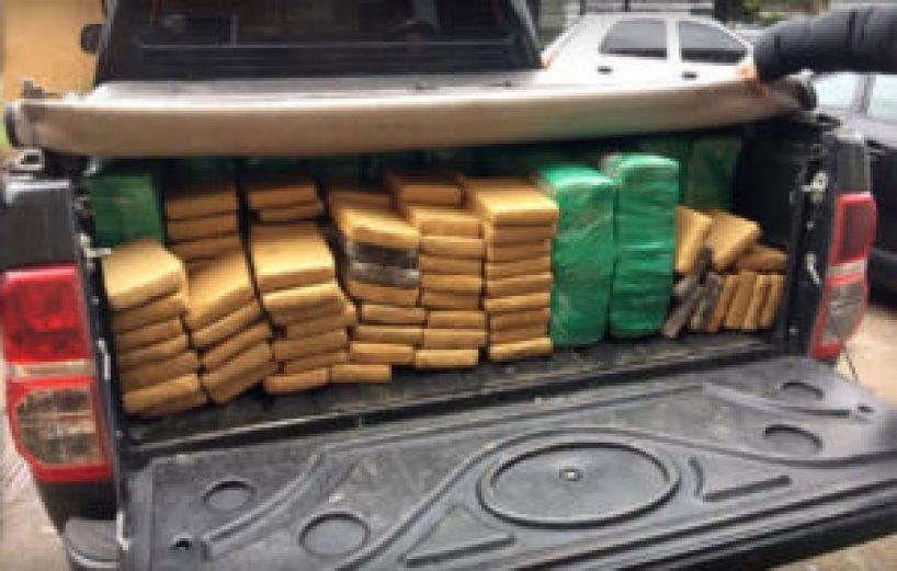 Parte de la droga secuestrada en los múltiples allanamientos ordenados por la Justicia Federal de Morón