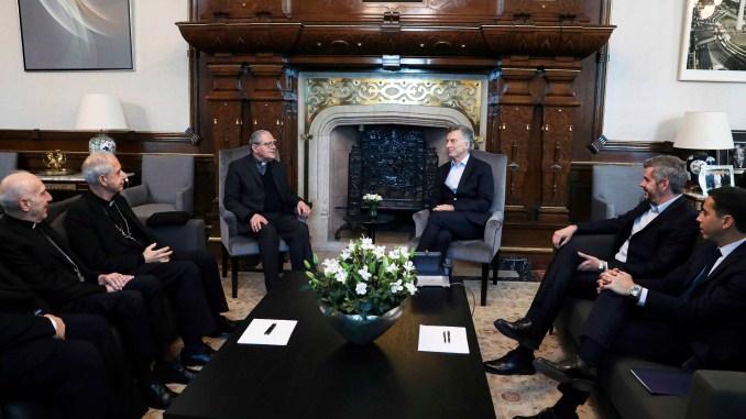 Macri con la Conferencia Episcopal