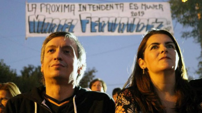 Maximo Kirchner y Mariel Fernández