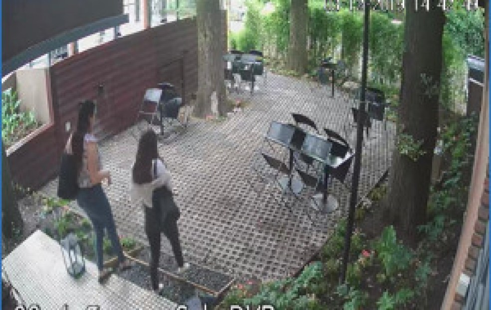 Las cámaras de seguridad de Robles de Florinda captan la retirada de las hábiles ladronas de billeteras