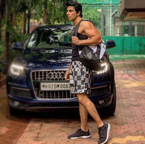 Sonu Sood with his car