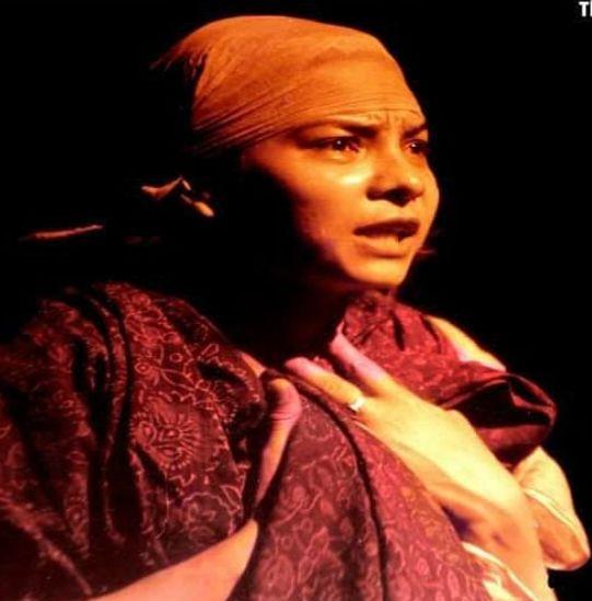 Sunita Rajwar during a play