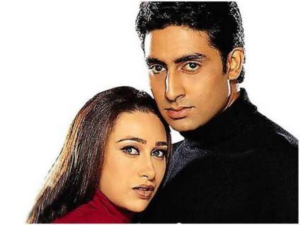 Karishma Kapoor with abhishek bachchan