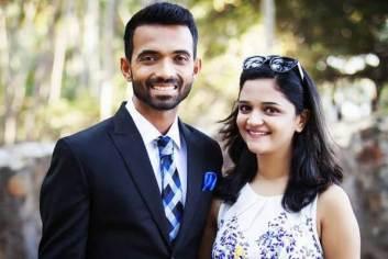 Ajinkya Rahane With Radhika Dhopavkar
