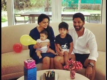 Allu Arjun With His Children's