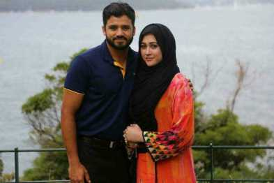 Azhar Ali With His Wife