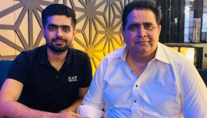 Babar Azam With His Father