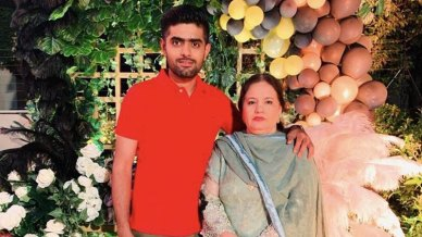 Babar Azam With His Mother