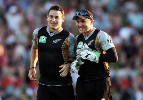 Brendon McCullum With His Brother