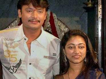 Darshan ThoogudeepWith Vijaya Lakshmi