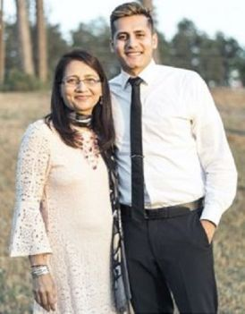 Dhaval Panchal With His Mother
