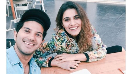 Dulquer Salmaan With His Sister