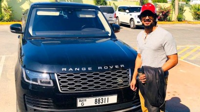 Dulquer Salmaan With His Car