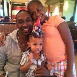 Dwayne Bravo With His Children's