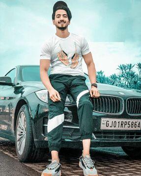 Faisal Shaikh With His Car