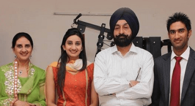 Gurkeerat Singh With Family