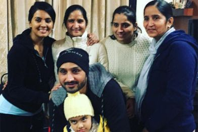 Harbhajan Singh With His Sister