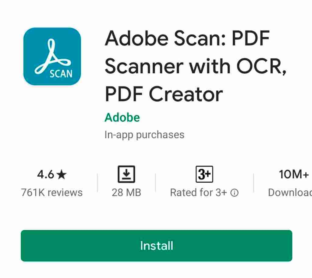 Adobe Scan: PDF Scanner with OCR, PDF Creator