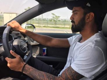 KL Rahul With His Car