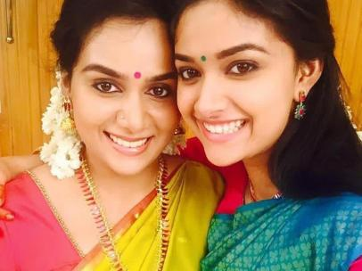 Keerthy Suresh With Her Sister