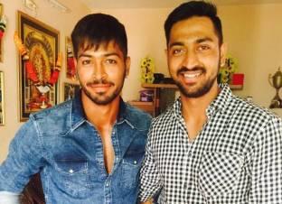 Krunal Pandya With His Brother