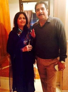Mishal Raheja His Father And Mother
