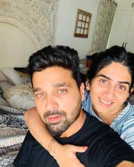 Murali Vijay with Nikita Vijay