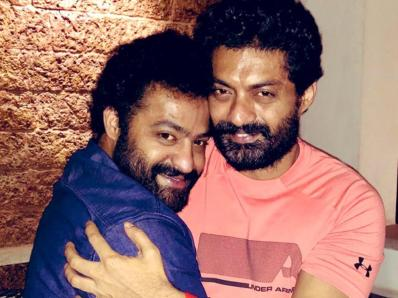 N. T. Rama Rao Jr With His Brother