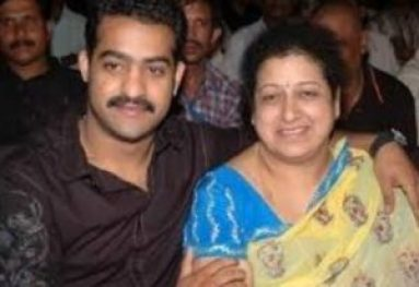 N. T. Rama Rao Jr With His Mother