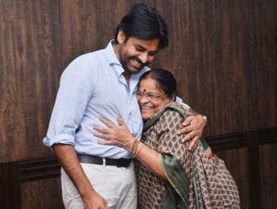Pawan KalyanWith His Mother