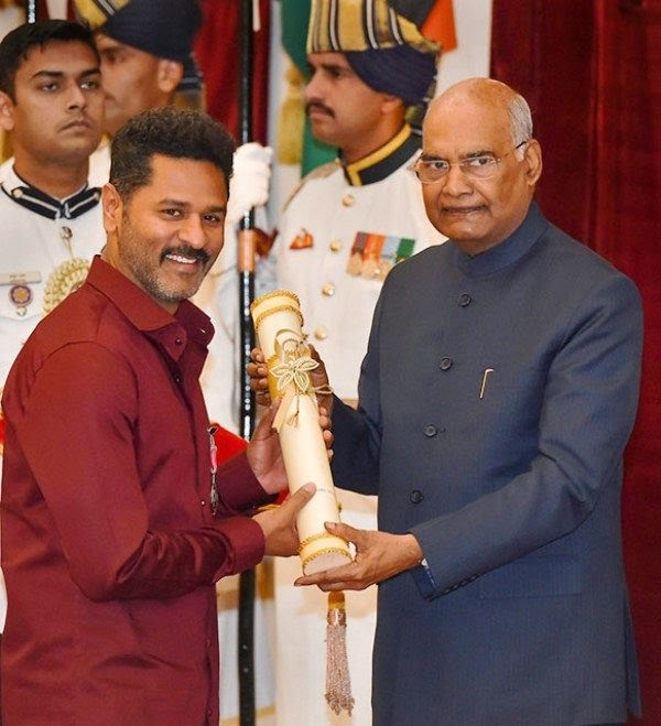 Prabhu Deva Receiving the Padma Shri Award