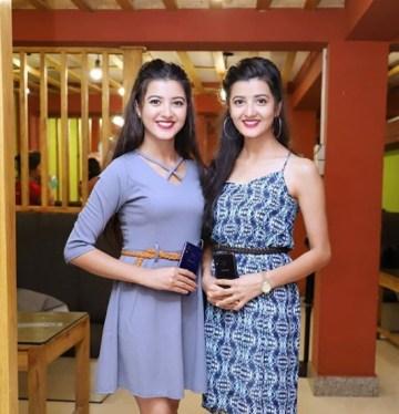 Princy Khatiwada With Her Sister