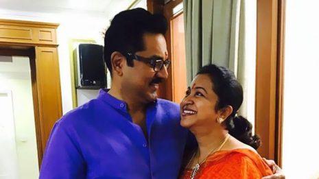 R. Sarathkumar With Raadhika