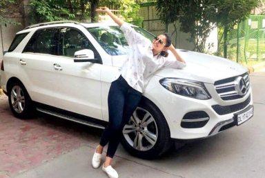 Rakul Preet Singh With Her Car