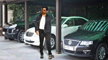 Ravi Teja With His Car