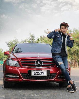 Riyaz Aly With His Car