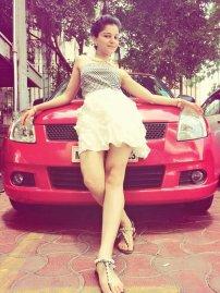 Rubina Dilaik With Her Car