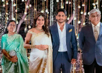 Samantha Akkineni With Her Father And Mother