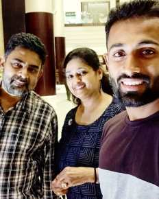 Shreyas Gopal With Father And Mother